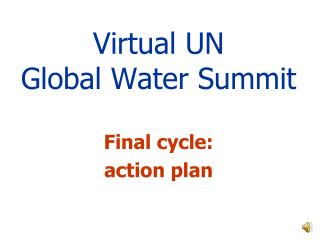 Virtual UN Global Water Summit
