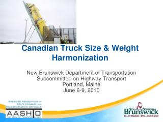 Canadian Truck Size & Weight Harmonization