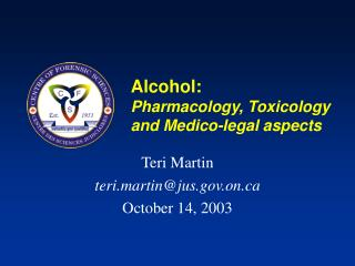 Alcohol: Pharmacology, Toxicology  and Medico-legal aspects