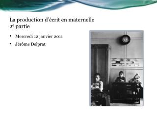 La production d  crit en maternelle 2e partie