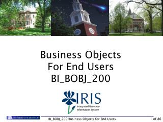 Business Objects For End Users BI_BOBJ_200