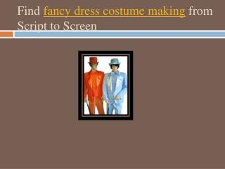 Fancy Dress Costume Making
