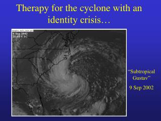 Therapy for the cyclone with an identity crisis…