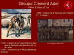 Groupe Cl ment Ader d hier   aujourd hui