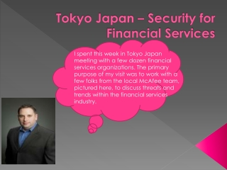 Tokyo Japan – Security for Financial Services