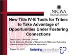 New Title IV-E Tools for Tribes to Take Advantage of Opportunities Under Fostering Connections