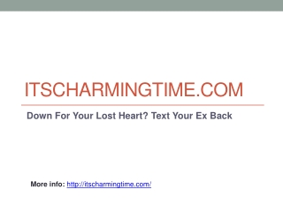 Love Seduction And Attraction on ItsCharmingTime.com