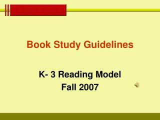 Book Study Guidelines