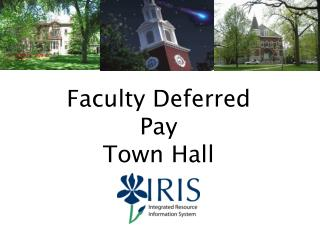 Faculty Deferred Pay Town Hall