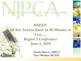 HSEEP:  All You Need to Know in 90 Minutes or Less…. Region 2 Conference June 2, 2010