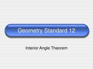 Geometry Standard 12