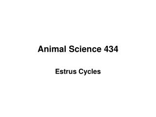 Animal Science 434