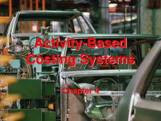 Activity-Based Costing Systems