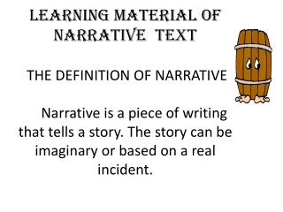 The Function of Narrative Text