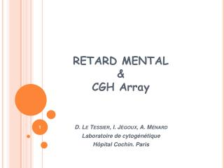 RETARD MENTAL  &  CGH Array