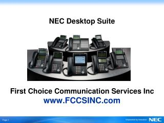 NEC Desktop Suite  First Choice Communication Services Inc FCCSINC