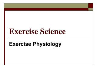 Exercise Science