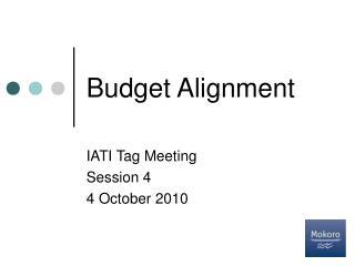 Budget Alignment