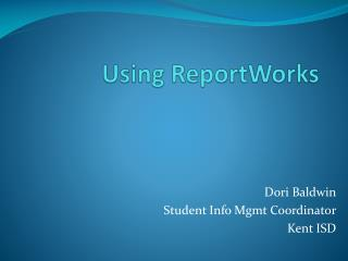 Using  ReportWorks