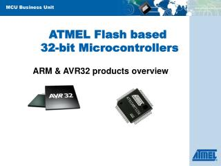 ATMEL Flash based  32-bit Microcontrollers