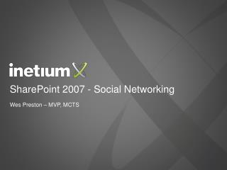 SharePoint 2007 - Social Networking