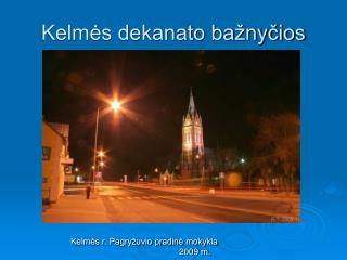 Kelmės dekanato bažnyčios