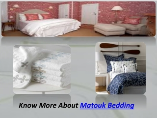 Matouk Bedding