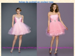 Robe de cocktail en couleur rose