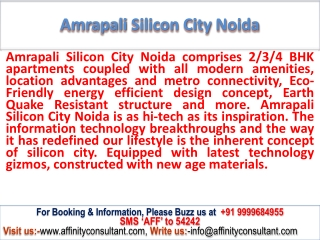 Booked-up flat @ 09999684955 @ sec - 76 : Amrapali Silicon