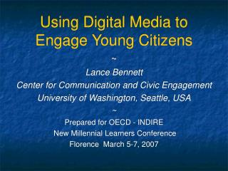 Using Digital Media to Engage Young Citizens