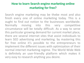 Learn SEO Step By Step