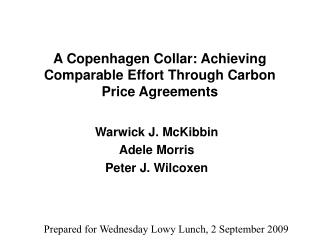 A Copenhagen Collar: Achieving Comparable Effort Through Carbon Price Agreements