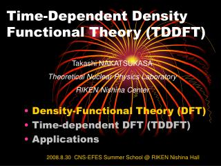 Time-Dependent Density Functional Theory (TDDFT)