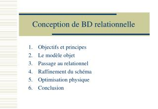 Conception de BD relationnelle