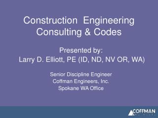 Construction  Engineering Consulting  Codes