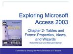 Exploring Office 2003 - Grauer and Barber