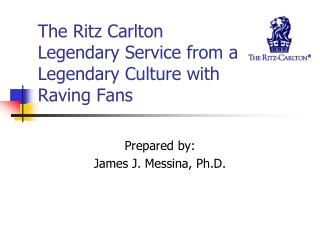 The Ritz Carlton Legendary Service from a Legendary Culture with  Raving Fans