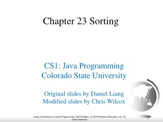 Chapter 23 Sorting