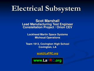 Electrical Subsystem