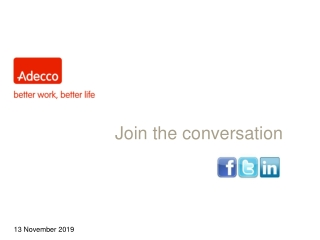 Adecco Social Media Launch