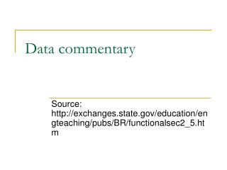 Data commentary