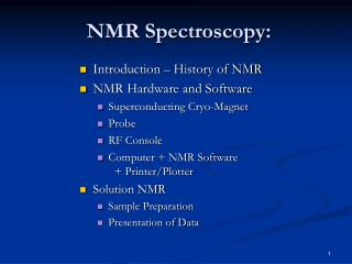 NMR Spectroscopy: