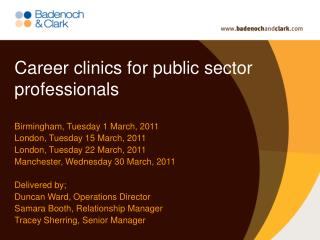 Career clinics for public sector professionals