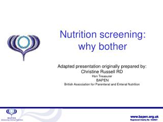 Nutrition screening: why bother