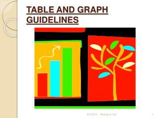TABLE AND GRAPH GUIDELINES