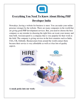 Everything You Need To Know About Hiring PHP Developer India