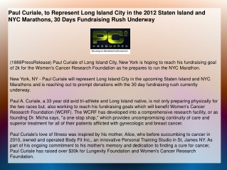 Paul Curiale, to Represent Long Island City in the 2012 Stat