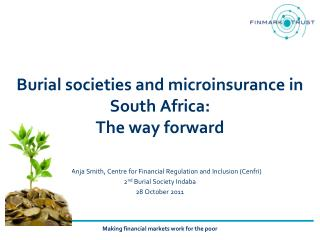 Burial societies and microinsurance in South Africa:  The way forward