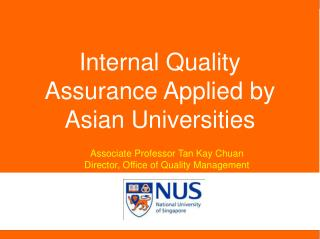 Internal Quality Assurance Applied by Asian Universities