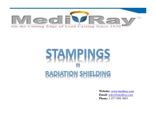 Lead Stamping | Lead Shielding | Medi-Ray